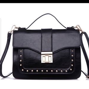 Oralee Structured Crossbody in Black